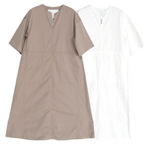 【SALE 40】TICCA ティッカ キーネックロングドレス レディース 21春夏 WHITE MOCA TBAS-115 exclusive