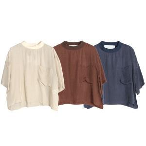 【SALE 40】TICCA ティッカ 布帛Tシャツ レディース 21春夏 IVORY CAMEL BLUE TBAS-171 exclusive