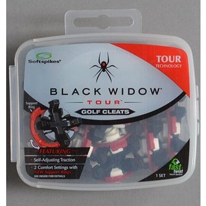 Softspikes ソフトスパイクス Black Widow Tour Fast Twist スパイク鋲|excorsgolf