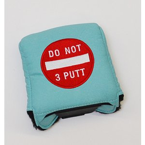 AM&E Do Not 3Putt Universal Large Mallet Putter Cover Ice|excorsgolf
