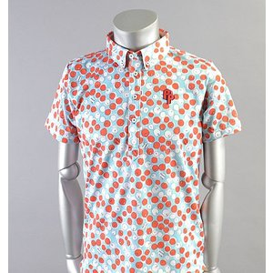 SALE! 2018 Fairy Powder フェアリーパウダー FP18-1106 Fruits Print Polo Blue|excorsgolf