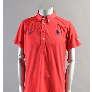 SALE! 2018 Fairy Powder フェアリーパウダー FP18-1110 Argyle Mesh Western Polo Red|excorsgolf