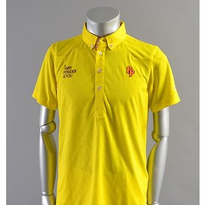 SALE! 2018 Fairy Powder フェアリーパウダー FP18-1110 Argyle Mesh Western Polo Yellow|excorsgolf