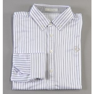 Fairy Powder フェアリーパウダー FP18-5100 Stripe Long Sleeve Polo White|excorsgolf