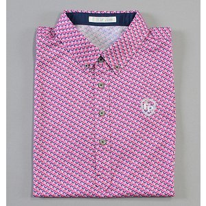 Fairy Powder フェアリーパウダー FP19-1109 Print Polo Pink|excorsgolf