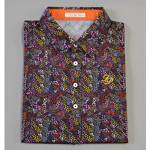 Fairy Powder フェアリーパウダー FP19-1110 Flower Print Polo Navy|excorsgolf