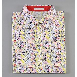 Fairy Powder フェアリーパウダー FP19-1110 Flower Print Polo White|excorsgolf