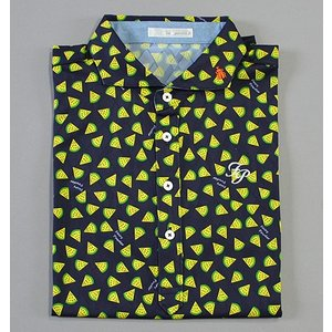 Fairy Powder フェアリーパウダー FP19-1112 Fruits Print Polo Navy|excorsgolf