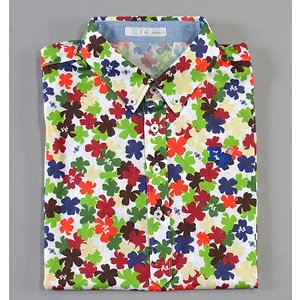 Fairy Powder フェアリーパウダー FP19-1112 Fruits Print Polo White|excorsgolf