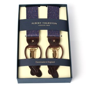 ALBERT THURSTON BRACES Navy Peisley Elastic    182...