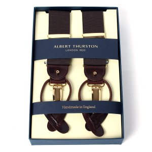 ALBERT THURSTON BRACES BROWN 35mm Elastic   英国紳士をは...