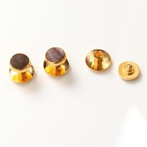 フォーマル スタッド 黒蝶貝 ゴールド丸型日本製 タキシード|excy