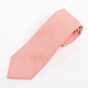 ネクタイ Harrisons リネン ピンク 日本製 ハンドメイド|excy