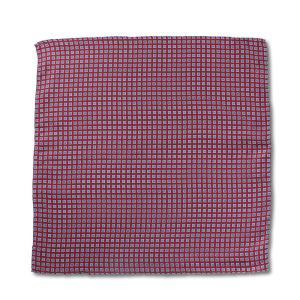 ポケットチーフ イタリアプリントシルク 小紋柄 ネイビー/ワインレッド|excy