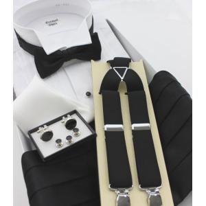 タキシード ウイングカラーシャツ&小物6点セット  日本製 excy