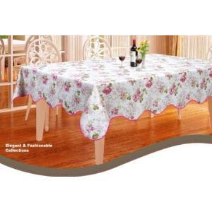 テーブルクロスビニールおしゃれ撥水防水長方形 137×182cm合皮 薔薇雑貨CEC-153得トク0706の画像