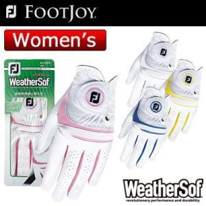 【ネコポス便発送】FOOTJOY(フットジョイ) WeatherSof レディース ゴルフ グローブ...