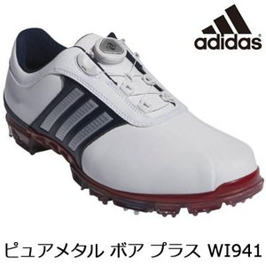adidas(アディダス) ピュアメタル ボア プラス WI941 メンズ ゴルフシューズ Q448...