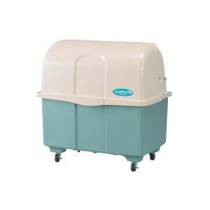 ジャンボペールHG600TC 内容量約600L 約1096 × 716 × 1110mm(ミヅシマ工業)分別屑入 ゴミ箱 施設用品 強化プラスチック製 キャスター付きゴミ保管庫 exis