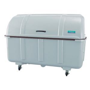 ジャンボステーション J1500C 内容量約1500L 約1800 × 920 × 1284mm(ミヅシマ工業)施設用品 強化プラスチック製 キャスター付きゴミ保管庫 exis