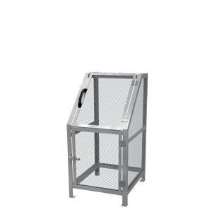 ジャンボメッシュST400(ミヅシマ工業) 内容量約400L 約600 × 700 × 1200mm 分別屑入 ゴミ箱 屑カゴ 施設用品 スチール製 ゴミ保管庫 お客様組立製品 exis