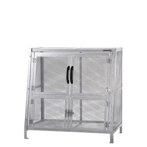 ジャンボメッシュST760(ミヅシマ工業) 内容量約800L 約1200× 700 × 1200mm 分別屑入 ゴミ箱 屑カゴ 施設用品 スチール製 ゴミ保管庫 お客様組立製品 exis