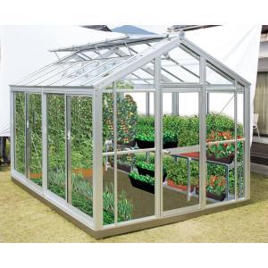 設置工事込 家庭用温室G3(アルミフレーム・ガラスタイプ) アルミニネオ NAB-2(3坪タイプ)(大仙) exis