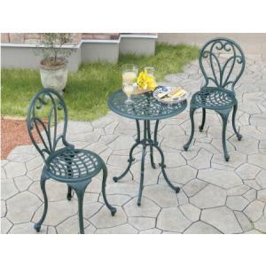 【テーブル&チェアー】フロールカフェテーブル3点セット【ガーデンファニチャー】|exis