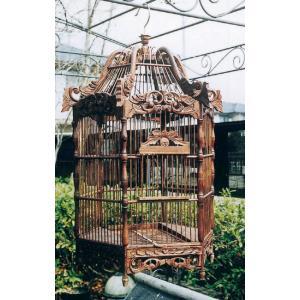 アンティーク鳥かご 六角形 Bタイプ(15406)|exis