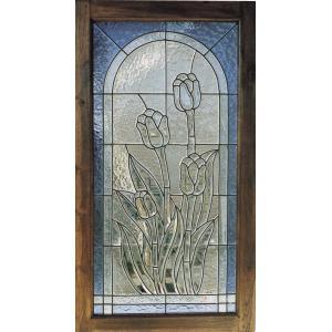 レトロ ステンドグラス チューリップ ベベル(87034)|exis
