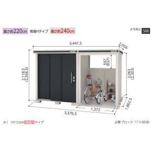 ヨド物置 エルモコンビ LMD-1818+LKD1518 標準高タイプ 一般型 屋外 物置き 送料無料 exis