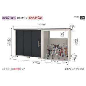 ヨド物置 エルモコンビ LMD-2218+LKD1818 標準高タイプ 一般型 屋外 物置き 送料無料の写真