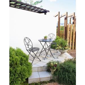 【テーブル&チェアー】エルダモザイクテーブル3点セット【ガーデンファニチャー/カフェテーブル】|exis