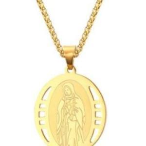 上品なゴールドのマリアネックレスです。  奇跡を起こし、幸運をもたらすお守りとして、 世界中で人気の...