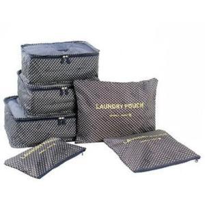 旅行用 トラベル バッグインバッグ スーツケース メッシュ ケース ポーチ 収納 整理 便利  6点 セット花柄 スターネイビー|exlead-japan