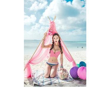夏レディース 水着 セクシー ビキニ 欧米風 セパレート 民族風 全7色 温泉もできる 目立つ 小胸もピッタリ (ピンク・Sサイズ) 送料無料|exlead-japan