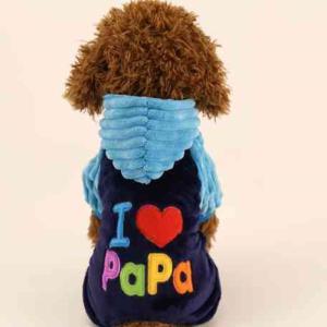 ドッグウエア M ブルー 高品質 おすすめ  厚地 カラフル 暖か 犬の冬服 前ボタン gabb|exlead-japan