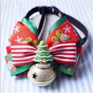 クリスマス カラー リボン の ゴージャス な 飾り ペット 用 首輪 りぼん 蝶ネクタイ お散歩 犬 用 猫 用 ドッグ 用品 ドッグ ウェア|exlead-japan