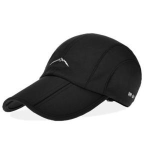 折り畳み 帽子 キャップ アウトドア 登山 釣り ゴルフ スポーツ 防水 男女兼用 メンズ レディース(ブラック)|exlead-japan