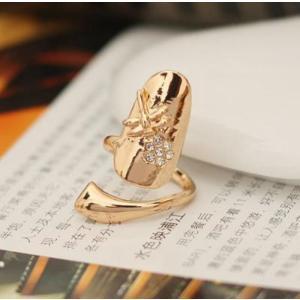 爪先 爪 飾り ネイル が 出来なくても 指先 を 華やか に  ネイル リング ゴールド gabb 送料無料 exlead-japan