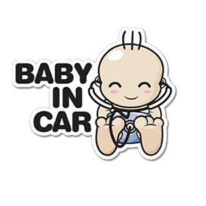 セーフティ反射ステッカー 赤ちゃん乗ってます Baby in Car ドクター赤ちゃん 安全 夜でも 安心 外貼り で よく目立ちます 出産準備に 送料無料|exlead-japan