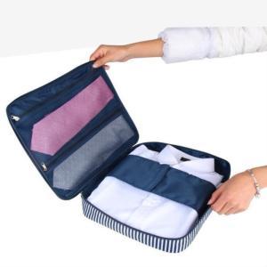 ●ネイビー ストライプ● 旅行用 ワイシャツケース ネクタイ 衣類収納ケース アレンジケース 旅行 ...