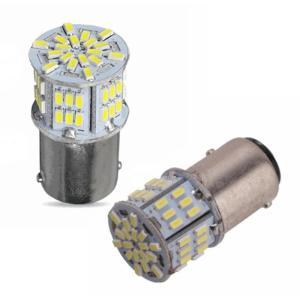 白/2個セット1156 54連 12V 3014SMD S25 シングル LED ランプ 超高輝度 送料無料|exlead-japan