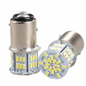 白/2個セット1157 54連 12V 3014SMD S25 ダブル LED ランプ 超高輝度 送料無料|exlead-japan