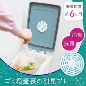 消臭剤 ゴミ箱用 生ごみ 臭い 臭い取り 消臭 ゴミ箱蓋裏の消臭プレート 6か月持続 送料無料