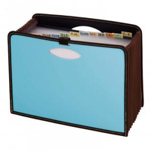 大容量 ドキュメントボックス 仕切り 整理 ファイルボックス ドキュメントスタンド ドキュメントケース ドキュメントファイル 取説ホルダー A4 かわいい ブルー exlead-japan