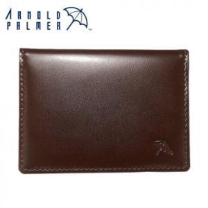 Arnold Palmer アーノルドパーマー 牛革 2面パスケース 4AP3490BN- ブラウン 免許証入れ ビジネス 本革 誕生日 父の日 プレゼント 定期入れ レザー メンズ 男性|exlead-japan