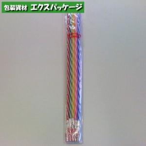 【池伝】カメヤマ キャンドル ストライプ 18cm (5本入り)
