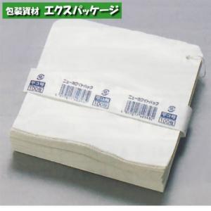 【福助工業】ニューホワイトパック 平4号 紐付 500入 0180785 expackage