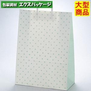 手提袋 ラッピーバッグ No.1 水玉グリーン 150枚 0120014 ケース販売 取り寄せ品 福助工業|expackage